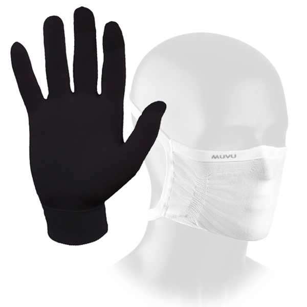 Guantes Anticovid Guantelet y Mascarilla Muvu ¡Pack Security!